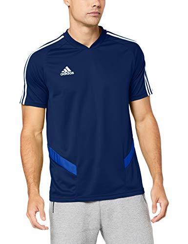 adidas TIRO19 TR JSY Camiseta de Manga Corta, Hombre, Dark Blue/Bold Blue/White, M