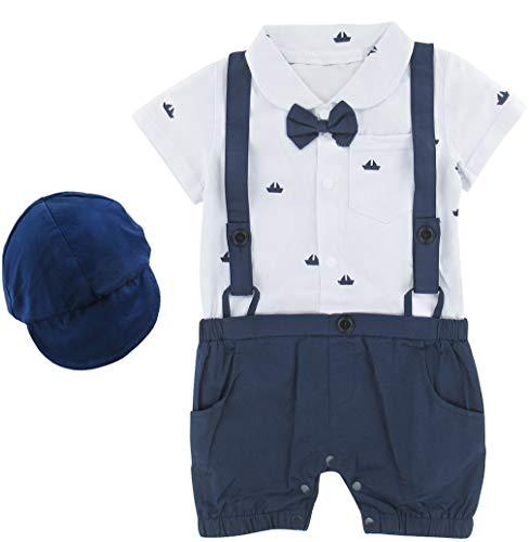 mintgreen Recién Nacido Bebé Niño Mono Formal, Azul, 12-18 Meses (Tamaño del Fabricante: 90)