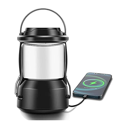 SONG Camping Laterne, dimmbare LED Outdoor Light, USB...