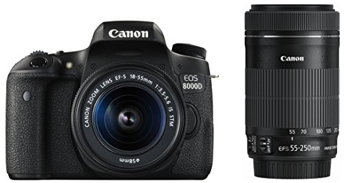 Canon digital SLR camera EOS 8000D double zoom Kit EF-s 18-55 mm/EF-S55 - 250 mm with metal EOS8000D-WKIT(Japan Import-No Warranty)