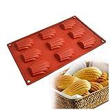 Doitsa 1pcs Moule à Madeleines en Silicone 9 Cavités pour Gâteau Candy Chocolate Biscuits, Couleur Aléatoire