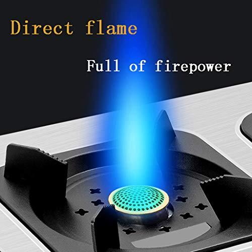 Cooktop Heftiger Feuergasherd aus Edelstahl/handelsübliches Flüssiggas-Desktop-Kochherd mit Mehreren Augen/Auflaufofen mit Mehreren Köpfen