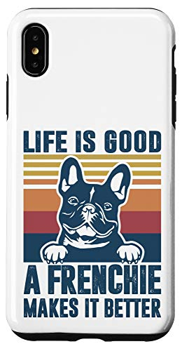 iPhone XS Max Frenchie Gifts For Women Men Frenchie Dad Mom French Bulldog Case