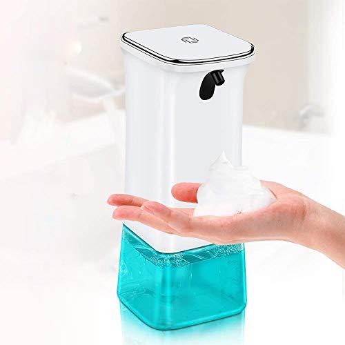Wimaha Seifenspender Automatisch mit Infrarot Sensor 350ml mit Wasserdichter Basis für Flüssigseife Schaumseife Spülmittel Handdesinfektionsmittel Shampoo und Lotion für Bad Küche und Büro