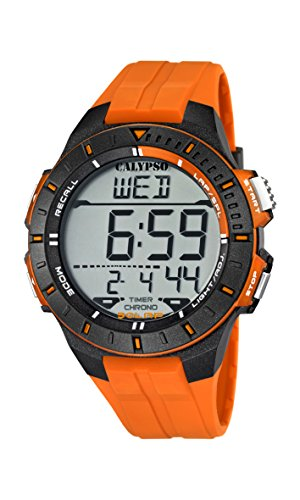 Calypso watches K5607/1 - Reloj Hombre Naranja Sumergible, color naranja