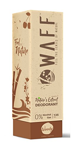 WAFF World's First Nature's Extract Fresh Deodorant I Alcohol Free Long Lasting Freshness Pocket Friendly Size Natural Deodorant for Men - Fresh Woody Fragrance