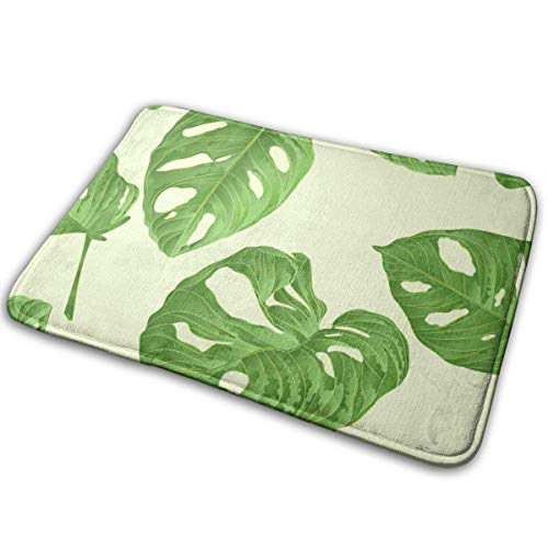 BLSYP Green Turtle Leaves Uno Tras Otro Alfombrilla para Puerta Alfombrillas Alfombrilla de Entrada Alfombra Antideslizante Alfombra para Silla de Piso Alfombra de Interior Alfombra de Bienvenida Alf