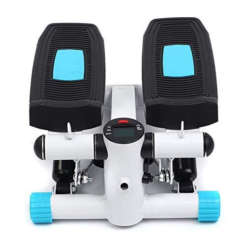 Zjcpow Mini-Stepper Fitness Escalera Stepper Cardio Deporte Fitness Stepper Máquina con Monitor LCD Bandas Resistencia Oficina
