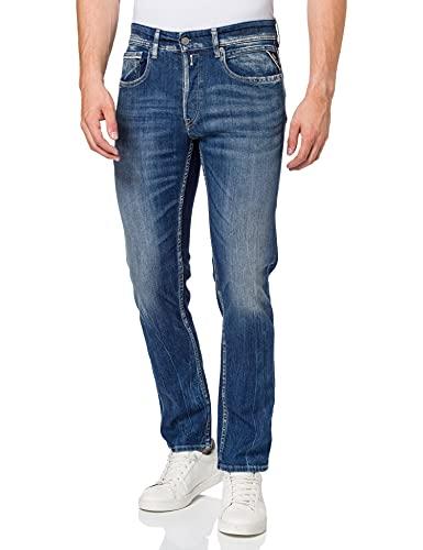 REPLAY Grover Jeans Straight, (Medium Blue 9), W27/L32 (Taglia Produttore: 27) Uomo