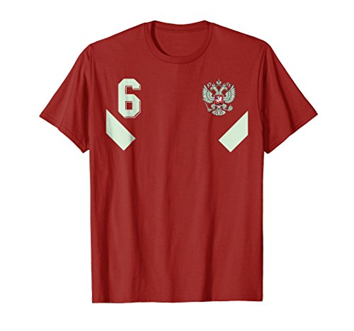 Russia Soccer Jersey Russian Retro Football T-Shirt number 6