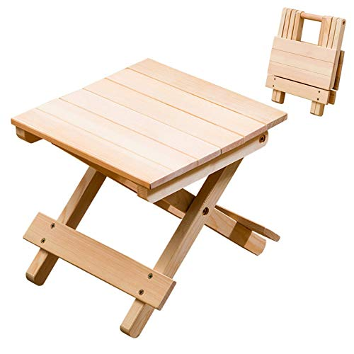 B/C Folding Wood Chair, Portable Stable Folding Tool, Multi-fountion Small Foldable Table for Home Outdoor Camp Picnic(9.84x9.84x9.06inch)