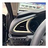 LOVELY Vent Outlet Trim Cover For Mazda Axela 3 M3 2019 2020 Frontal del Tablero de Instrumentos Condición Izquierda Derecha Aire AC Salida de ventilación del Recorte Accesorios Interior Interior