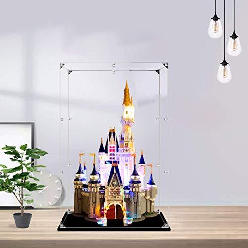Caja de visualización de para Lego Disney Castle 71040, Caja de Polvo acrílico Compatible con el Castillo de Lego Disney (Solo Cuadro de visualización, sin Modelo) - S-Grade SIN Pegar Tipo