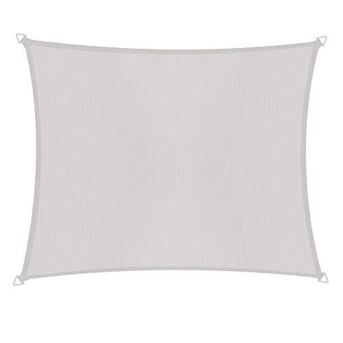 Windhager Segel Sonnensegel Cannes Rechteck 4 x 5 m, Sonnenschutz für Garten & Terrasse, UV-und witterungsbeständig, Creme, 10737