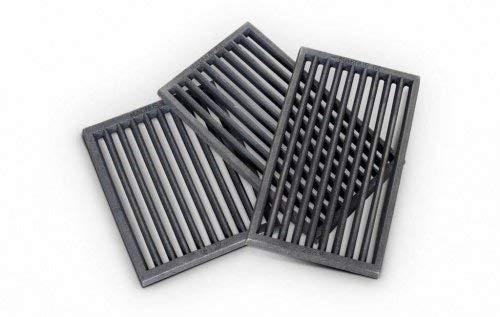 Ofenrost Gusseisen schwarz Kaminrost Ascherost 10 Größen Kamin Ofen Kaminofen Feuerrost Ofenrost-Größe RP2-18x22