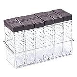 Pinsheng Juego de 6 Caja de Especias de plástico Transparente, Recipientes para...