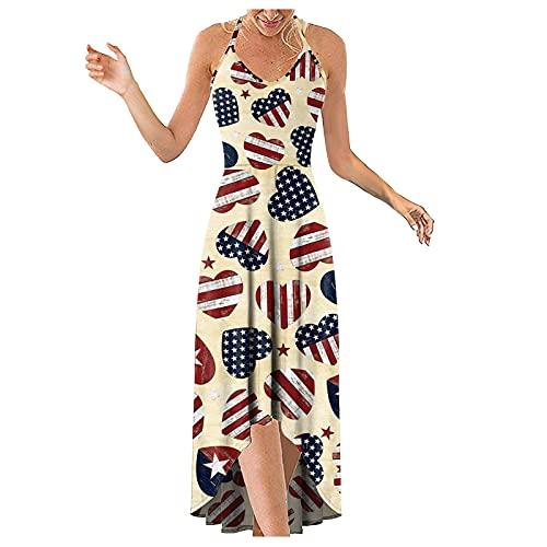 Maxi vestidos vestidos de playa para las mujeres vestido de abrigo para las mujeres sin mangas vintage vestido de té vestido para las mujeres elegantes vestidos casuales para las mujeres amarillo XL