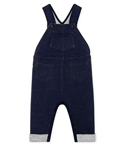Petit Bateau Baby-Jungen Salopette Longue_5015001 Latzhose, Blau (Smoking 01), 80 (Herstellergröße: 12M/74cm)