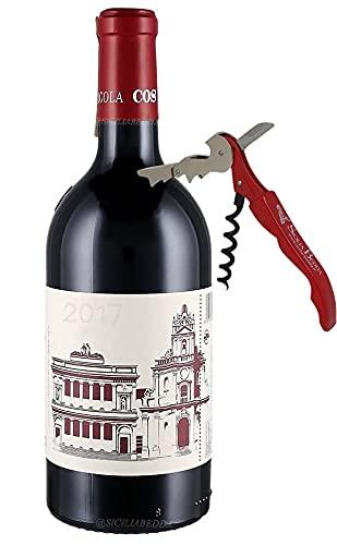 Sicilia Bedda - CERASUOLO DI VITTORIA COS DOCG - Vino Biologico - 750 Ml 13% vol. - Con Elegante Apribottiglia