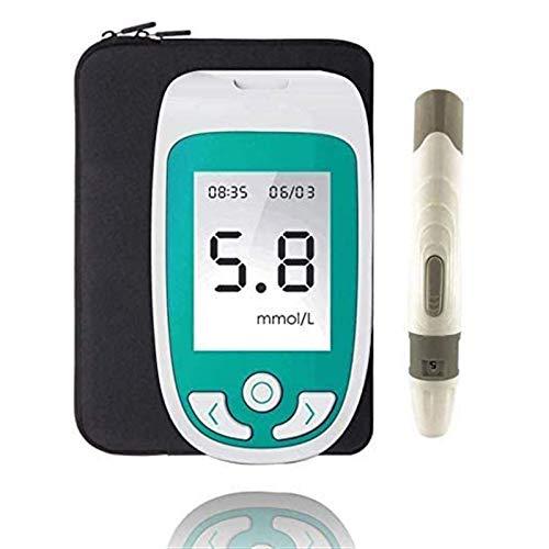 UALLL 3IN1 Medidor de Glucosa en Sangre, Sistema Multifunción Monitor De Colesterol De Azúcar En Sangre El Ácido Úrico con Analizador De Tiras De Prueba para El Hogar.