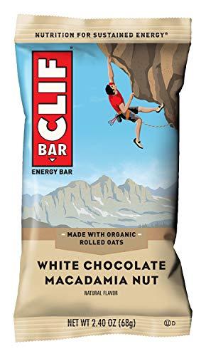 CLIF BAR - Energy Bars - White Chocolate Macadamia - (2.4 Ounce Protein Bars, 18 Count)