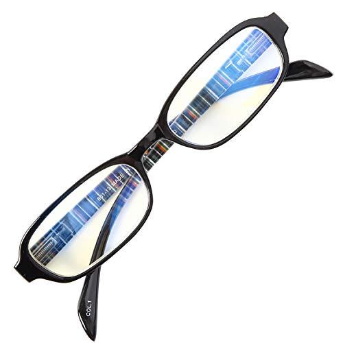 老眼鏡 NEW BL Cutter 801 バネ丁番 ブルーライトカット35% シンプルで締付け感なし 使いやすい老眼鏡 大ヒットモデル[PrePiar](ブラック, 1.5)