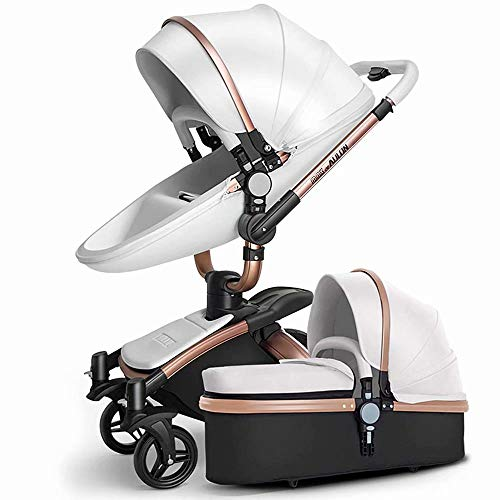 Find Cheap Baby Cart Hot Mom Pushchair 2 in 1 Multi-Function Combi-Stroller Deluxe Buggy Foldable In...