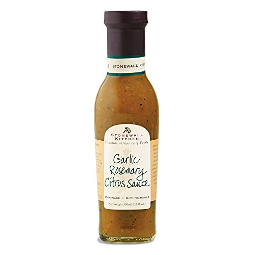 Stonewall Kitchen Garlic Rosemary Citrus Sauce (330 ml) - besonders empfehlenswert zu Fisch, Meeresfrüchten, Geflügel und Fleisch
