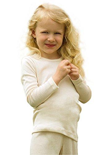 Kinder Unterhemd langarm, Wolle extrafein, Gr. 116