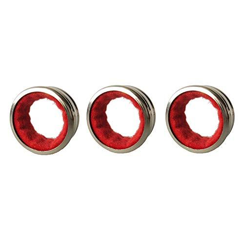 Markcur 3 anelli salvagoccia per bottiglie di vino, in acciaio inox