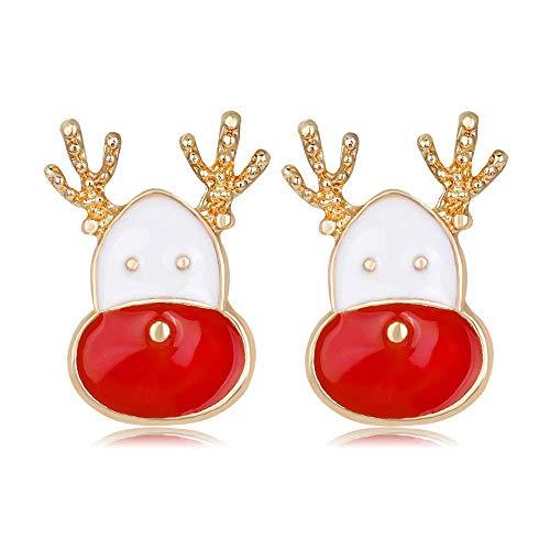 Comercio exterior venta caliente nuevo estilo moda alces lindos pendientes de gota de aceite de Navidad pendientes de reno