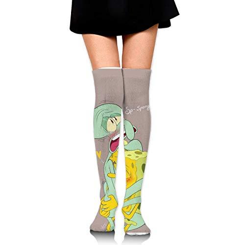 winterwang Medias altas hasta el muslo para mujer sobre el calentador de piernas altas ee tentáculos de calamardo botas de miedo medias extralargas para bañera deportiva