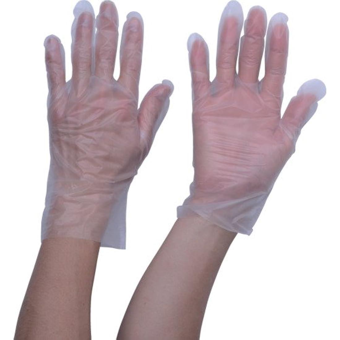 成熟幽霊受賞TRUSCO ポリエチレン 使い捨て手袋 ウェーブカットタイプM (100枚入)(入数:100枚) TGCPE025M