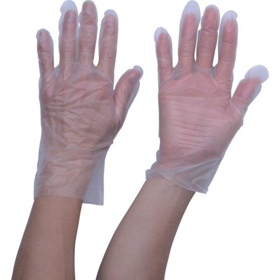 ハント階層見物人TRUSCO ポリエチレン 使い捨て手袋 ウェーブカットタイプS (100枚入)(入数:100枚) TGCPE025S