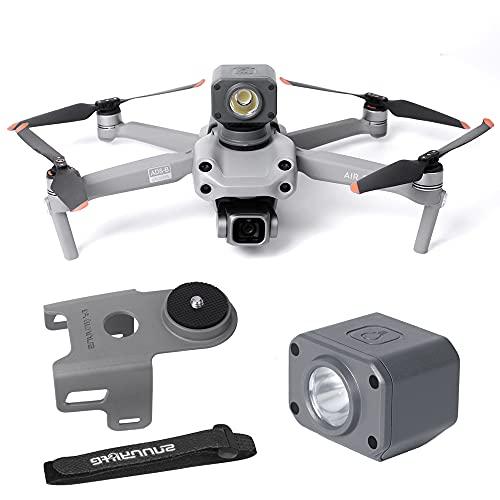 iEago RC Mavic Air 2S Drone Luz nocturna Cuadrada, luz de búsqueda + soporte para cámara, conector de cámara multifuncional con vendaje para dron DJI Mavic Air 2S