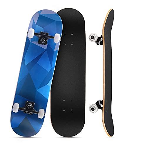 KOVEBBLE Skateboard Erwachsene Complete Board 31 x 8 inch mit ABEC-9 Lagern 95A Rollen, Cooles Skateboard für Mädchen Junge Teenager Männer Frauen