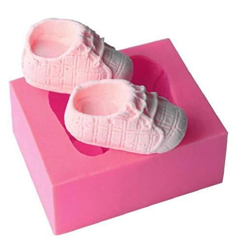 TOSSPER Silikon-Form, 3D-babyschuh-Form-Kuchen-Form, Für Kuchen-schokoladen-Zucker-Form-Fondant-Kuchen-Dekoration-Werkzeug