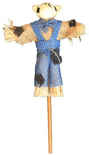 Deko Vogelscheuche Kuh 34 cm (Blau)