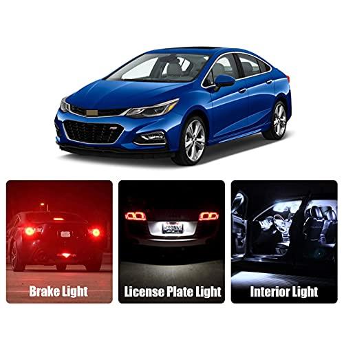 Lámpara de señal de Giro, luz LED de Coche ámbar roja Blanca, para Bombillas de Freno Chevrolet Cruze 2016 2017 2018, luz LED de Marcha atrás para estacionamiento Interior