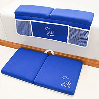 CAPYBARA Bath Kneeler with Elbow Pad Rest Set – Thick Baby Bathtime Knee Pad – Newborn Essentials for Boys and Girls – Baby Shower Accessory with Toy Organizer – Large Bathtub Arm Support