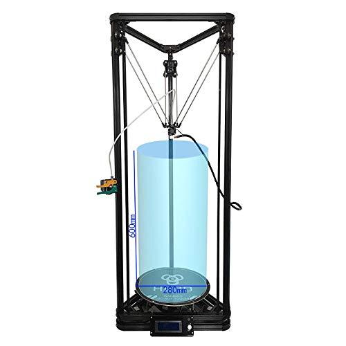 Impresora 3D HE3D K280 Kossel delta, alimentación DC 24V400w, gran tamaño de impresión, alta velocidad, nivel automático, lecho térmico, material multi compatible