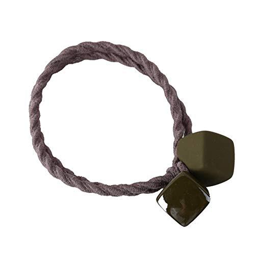 Matte rubberkleur haartouw schattige vierkante haarringtouw