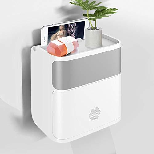 ZMIN Wall Mount toiletpapierhouder toiletpapierrek huishouden gratis stempel creatief waterdicht papierrol tube