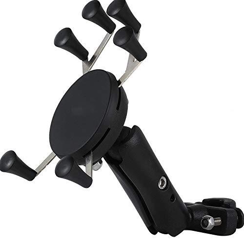 Yywl - Soporte de móvil para manillar de moto o bicicleta con banda de silicona