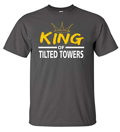 Tilted King of The Towers Youth T-Shirt (Charcoal, Youth L 9-11)