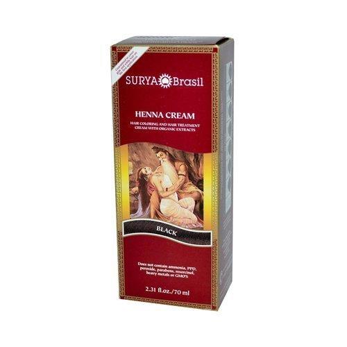 Surya Brasil Henna Cream Black - 2.31 Ounces - 6 PACK