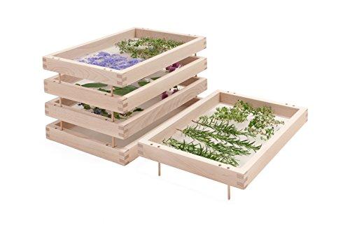 Casiers superposés pour le séchage des plantes, des herbes aromatiques et des épices – Modèle original en hêtre non traité