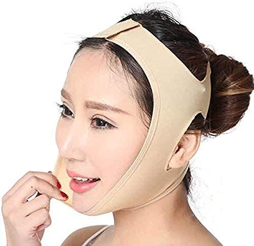 HengYue Ultradünner Atmungsaktiver Doppelkinn-Anti-Falten-Lifting-Gesichtsmaske Straffendes Gesicht V-Gesichtschirurgie-Formgürtel