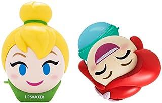 Lip Smacker Disney Emoji Lip Balm Duo, Tinkerbell & Ariel, Feisty Lemon & Tropical Shellfie Flavor
