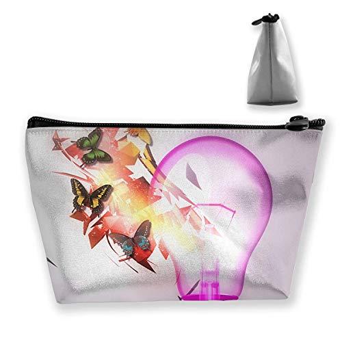 Reise Kosmetiktaschen Glühbirne Kleine Schminktasche Multifunktionsbeutel Kosmetische Handtasche Toilettenartikel Organizer Tasche für Frauen Mädchen